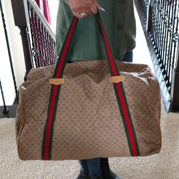 67a7f0a5196619 Gucci Bags | Authentic Vintage Duffel Bag Travel Suitcase | Poshmark